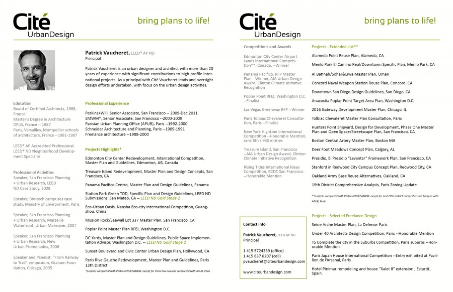 Urban planning resume templates